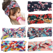 CHIC-CHIC 5 Pcs Kids Toddler Baby Girl Elastic Flower Headband Hair Accessories Photography Hairband