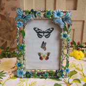 European luxury French romantic flower butterfly frame photo frame creative photo frame 13cm