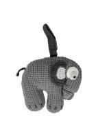Crochet musicbox grey elephant, Sebra Interior