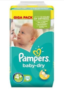 Pampers baby-dry 4+ Maxi Plus