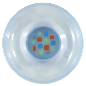 Nurtria Non-Slip Baby Dish with Cover, Blue