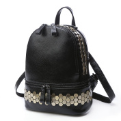 Sweetmeet Women's Soft Leather Purse Backpack Rivet Satchel Tote Casual Sports
