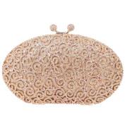 Santimon Egg Rhinestone Kiss Lock Purses Luxury Clutch Evening Bag