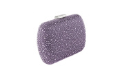 Anna Cecere - clucth satin with elegant micro studs, ideal for wedding and ceremonies - Purple