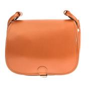Cognac 28cm Leather Saddle Bag | Hunters Handbag | Vegetable Tanned Satchel Bag