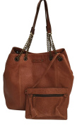 ABACO Paris Handcrafted Ladies Shoulder Bag Kabaco Chaine, Genuine Premium Lambskin Leather Tote Bag; Dimensions (LxHxW)