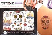 TATTOOID Temporary Tattoo Old School. 2 slides + 1 cosmetic sponge