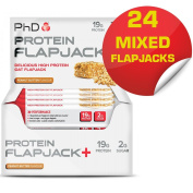 PhD Nutrition Flapjacks+ Pack of 24 - Mixed Flavours Flapjacks Bars