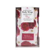 Aroma Home Microwaveable Floral Body Wrap Peony