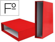 Box File Lever liderpapel Carton Folio Documenta Spine 82 mm Red