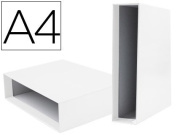Box File Lever liderpapel Carton DIN-A4 Documenta Spine 82 mm Colour White