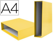Box File Lever liderpapel Carton DIN-A4 Documenta Spine 82 mm Yellow