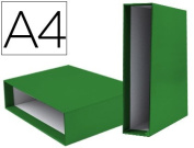Box File Lever liderpapel Carton DIN-A4 Documenta Spine 82 mm Green