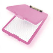 A4 Plastic Compact Clipboard Paper Storage Box File Pink 33.5cm x 24cm
