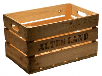 """New Sturdy Fruit Crate """"Old Country wood, from the Old World Natural 54 x 35 CM x 30 CM"""