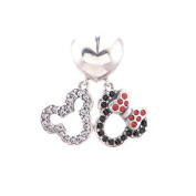 Mickey and Minnie Mouse Double Dangle Charm