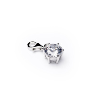 Love Charm Pendant with Zirconia Stone Diamonds Ladies Your