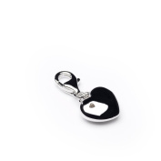 Pendant Charm Heart with Zirconia Diamonds Ladies Love When Your