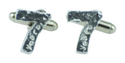 7 Year Anniversary Cuff links - Hammered Rustic Effect Made for the Perfect 7th Anniversary Gift, Made In UK