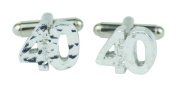40th Birthday Cuff links - Hammered Rustic Effect Made for the 40th Birthday Gift Idea, Made In UK