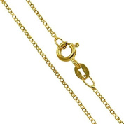 TOC Goldplated Sterling Silver Fine Trace Necklace Chain 41cm