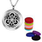 VALYRIA Aromatherapy Essential Oil Diffuser Necklace-Celtic Knot Round Stainless Steel Pendant Locket
