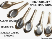 12 x Small Masala Dabba Spoons. Indian Spice Container Spoons Canister Tin Spoon Spices And Herbs
