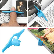SwirlColor Pack of 3 Plastic Thumb Book Support Holder Book Marker Bookmark