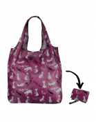 Re-Uz Lifestyle Shopper Foldable Reusable Shopping Grocery Bag - Catty Cat Grape