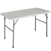 Home Discount® Folding Table 1.2m Heavy Duty Extra Strength Camping Buffet Wedding Market Garden Party Car Boot Stall Picnic Trestle Indoor Outdoor Foldaway