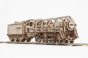 Ugears 70012 - Locomotive with Tender, 3D Wooden Model without Glue