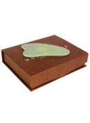 Pure Jade Gua Sha In Traditional Silk Lined Box By White Lotus Anti Ageing, Individually Hand Carved Gua Sha Scraping Boards Provide The Ultimate Therapeutic And Anti Ageing Massage From The Far East