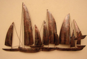 Hand Made Copper Ships Metal Wall Art Unusual Copper Sailing Ships Wall Art