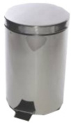 Pedal Bin Stainless Steel with Removable Plastic Liner 12 Litres D300xH460mm Ref SPC/PB.12/SS