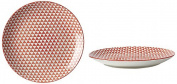 Fill 21331 Althea Collection Set of 4 Stoneware Plates, Red Triangle