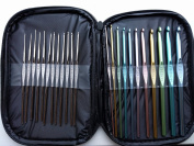 Crochet Hooks 23 pcs set with bag and letter sizes