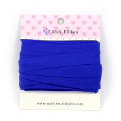 mdribbons 1.6cm 10 Yards Matte Elastic Ribbon For Hair Tie Headband Hair band Accessories Decoration Cobalt Colour