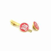 Perfect JW.Org Gift-Jw.org Necktie Clip and Lapel Pin Set With JW.ORG Logo Gift Box-Round-Red