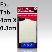 Pro Flex II Hair Extension Tabs Double Side Adhesive 120-pcs 4cm X 0.8cm