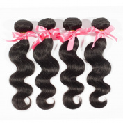 "Miss Wang Brazilian Virgin Remy Human Hair Extension Weave 4 Bundles 400g - Natural Black, 8""8""8""8"", Body Wave"