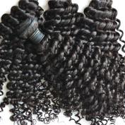 "Miss Wang Brazilian Virgin Remy Human Hair Extension Weave 4 Bundles 400g - Natural Black, 8""8""8""8"", Curly Wave"