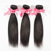 "Miss Wang Indian Virgin Remy Human Hair Extension Weave 3 Bundles 300g - Natural Black, 8""8""8"", Straight"