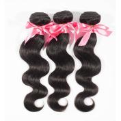 "Miss Wang Brazilian Virgin Remy Human Hair Extension Weave 3 Bundles 300g - Natural Black, 8""8""8"", Body Wave"