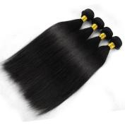 "Miss Wang Brazilian Virgin Remy Human Hair Extension Weave 4 Bundles 400g - Natural Black, 8""8""8""8"", Straight"