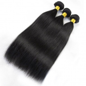 "Miss Wang Peruvian Virgin Human Hair Extension Weave 3 Bundles 300g - Natural Black, 8""8""8"", Straight"