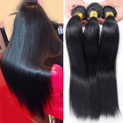 "Miss Wang Brazilian Virgin Remy Human Hair Extension Weave 3 Bundles 300g - Natural Black, 8""8""8"", Straight"