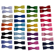 Bzybel Baby Girls Boutique Grosgrain Ribbon Hair Bow Clips 5.1cm Newborn Small Hairbows With Alligator Clips Pack Of 40pcs