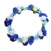 Cfrmall Flower Wreath Headband Crown Floral Garland for Festival Wedding