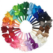 XIMA 25pcs 15cm big Ribbon Bows Hair Bow with Soft Headband Baby Headband Hair Accessory Hairband