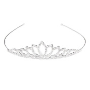 VORCOOL Wedding Bridal Rhinestone Decor Hairband Hair Clip Hair Loop Tiara